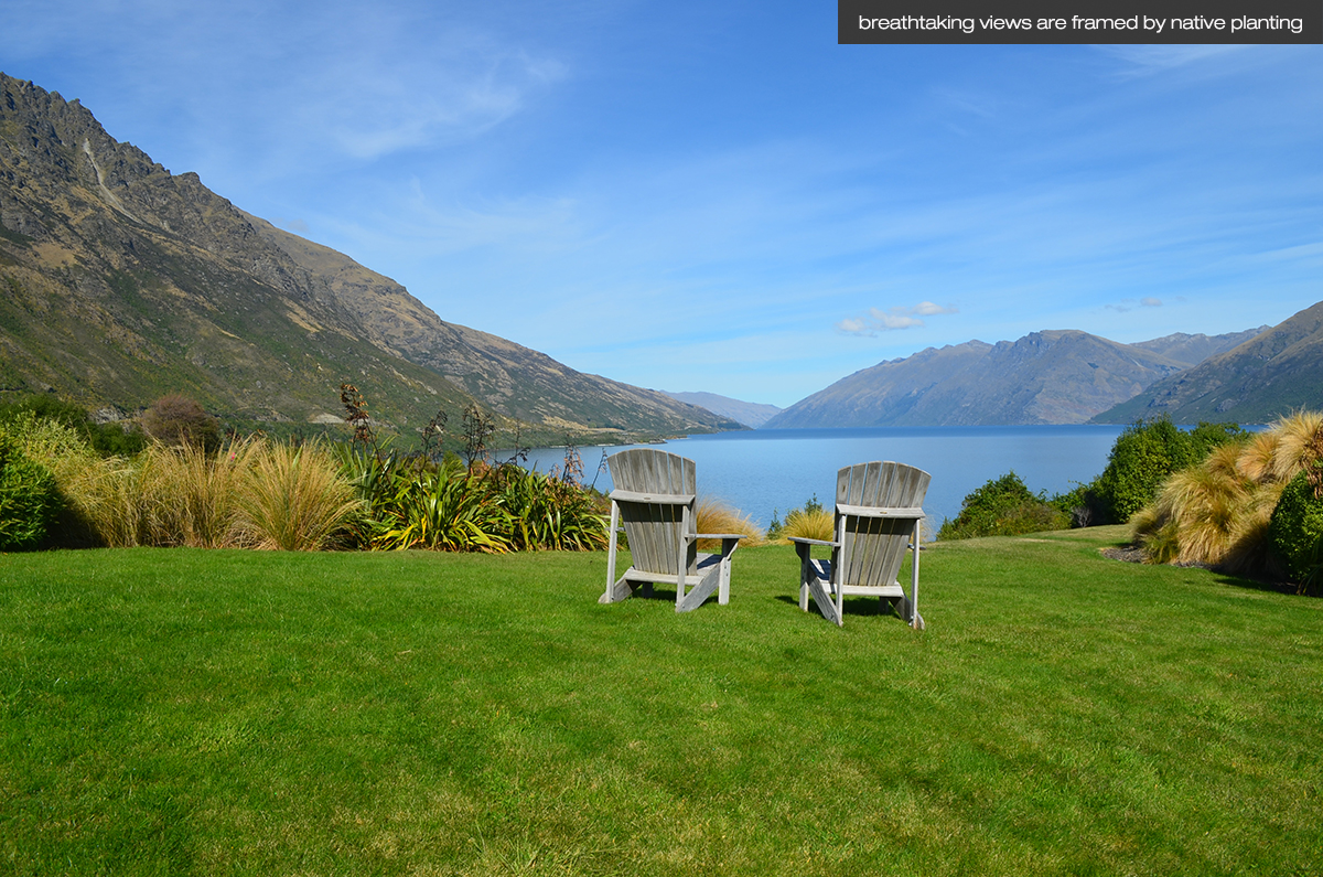 LAND Landscape Architects Queenstown - Residential Garden Design - Lakeside House