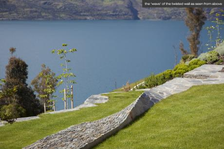 LAND landscape architects - twisted wall - Queenstown