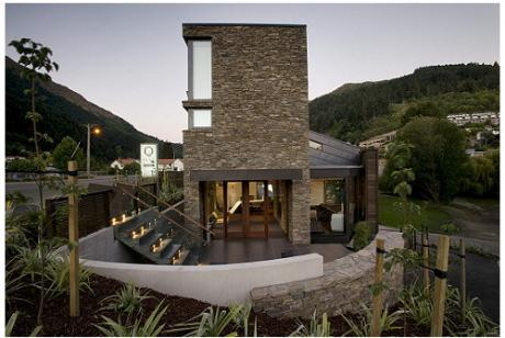 Land landscape architects queenstown lodge hotel for Design hotel queenstown